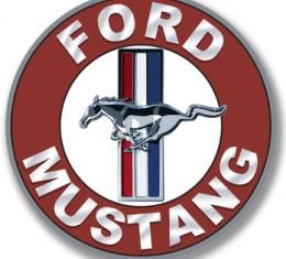 """Ford Mustang Disc Tin Sign, 24 Gauge Steel, 12"""""""