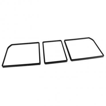 Corvette Rear Compartment Unit Door Frames, Black Paint to Match, 1968-1979 Early