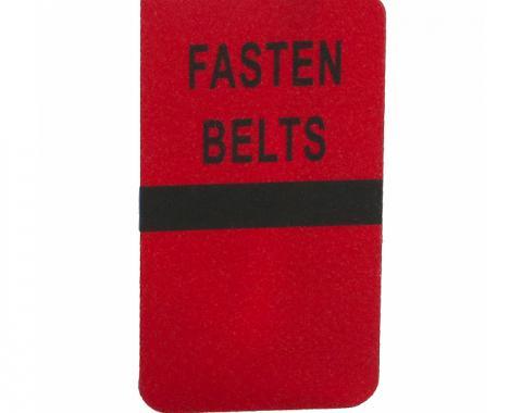 Corvette Seat Belt Warning Lens, 1977-1979