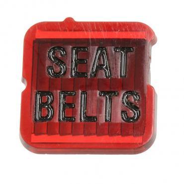 Corvette Seat Belt Warning Lens, 1968-1971