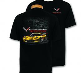 Black Corvette C7R Racing T-Shirt