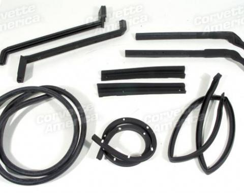 Corvette Weatherstrip Kit, Hardtop 9 Piece, USA, 1963-1967