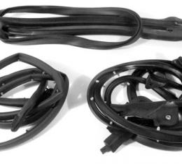 Corvette Weatherstrip Kit, Convertible Body 4 Piece, Import, 1986-1989