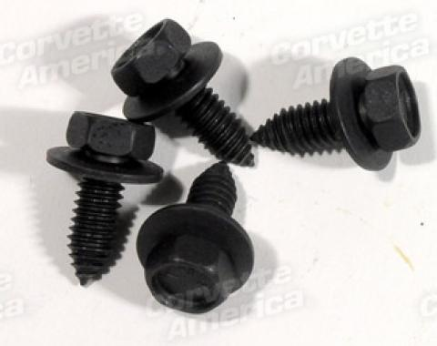 Corvette Shock Mount Screws, Front Lower 4 Piece, 1963-1982