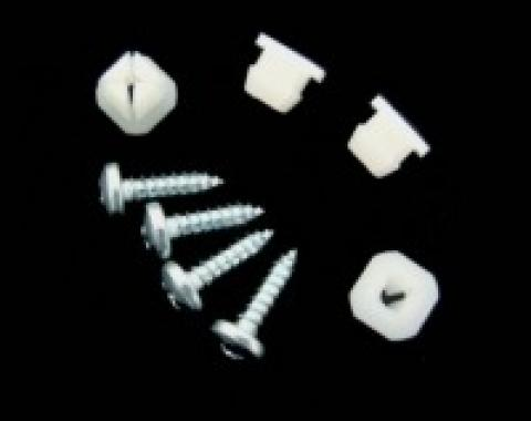 Corvette Rear License Bezel Screws & Nuts, 8 Piece, 1968-1973