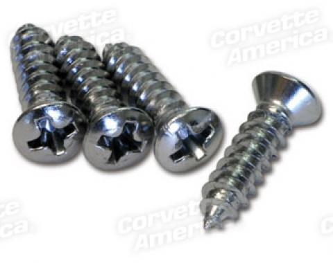 Corvette Parking Brake Console Screws, 4 Piece Set, 1967-1976