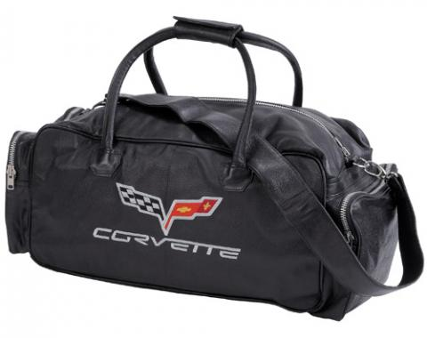 Corvette Black Duffle Bag, with C6 Logo, 24""