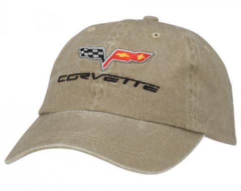 Corvette Hat, Khaki Unconstructed C6