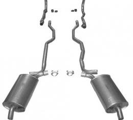 """Corvette Exhaust System, 2"""" Separate Secondary Pipe and Muffler, 1963"""