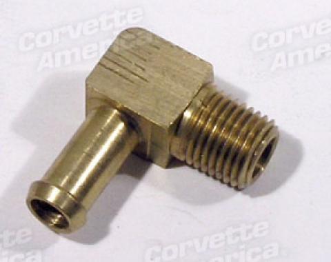 Corvette Fuel Pump Inlet Elbow, 327 340/375, 1964-1966