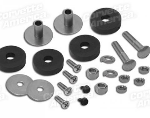 Corvette Side Exhaust Pipe Mount Hardware Kit, 1969