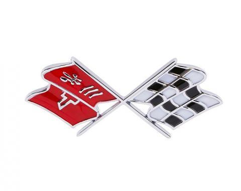 Trim Parts 68-72 Corvette Front X-Flag Emblem, Each 5955