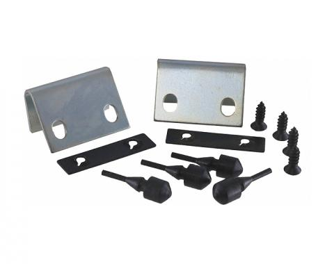 Corvette Rear Compartment Door Striker Kit, 1979-1982