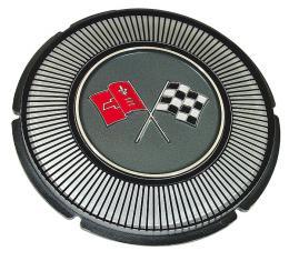 Corvette Emblem, Gas Lid Black Upper Left, 1966