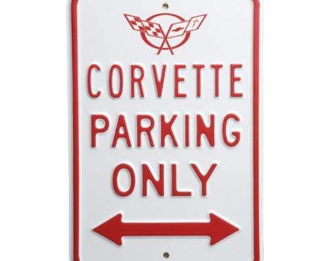 Corvette Corvette Parking Only Sign with Emblem