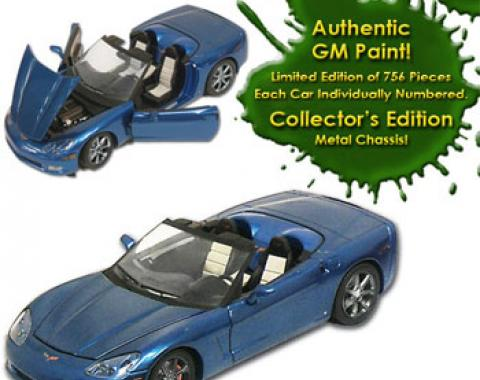 Corvette C6 Jetstream Blue Authentic GM Paint 1/24 Die Cast