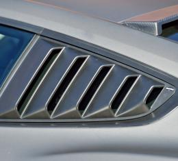 DefenderWorx Ford Mustang Rear Quarter Window Louvers Open For 15-Pres Mustang 901448
