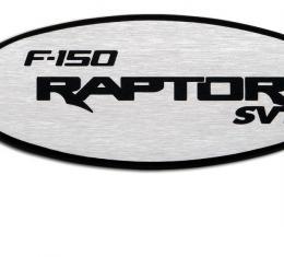 DefenderWorx Ford Raptor Tailgate Emblem W/Backup Camera For 09-15 Raptor Two Tone Brushed 901107