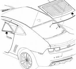 Camaro Rear Window Reveal Molding, 2010-2014