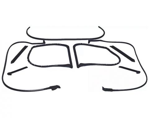 Corvette Coupe Body Weatherstrip Kit, 9 Piece, USA Made, 1977 Late