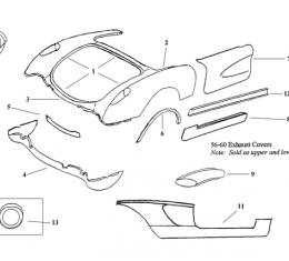 Corvette Bonding Strip, Valance Panel, Rear Lower, 1958-1960