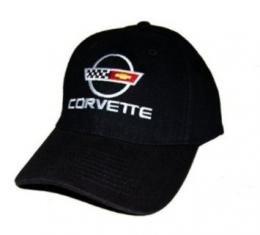 C4 Corvette Black Low Profile Cotton Brushed Twill Hat