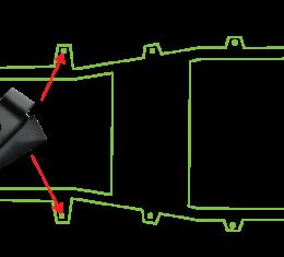 Key Parts '87-'95 Forward Body Mount 0480-300
