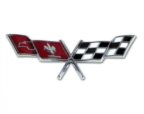Corvette Side Crossed-Flags Emblem, 1977-1979