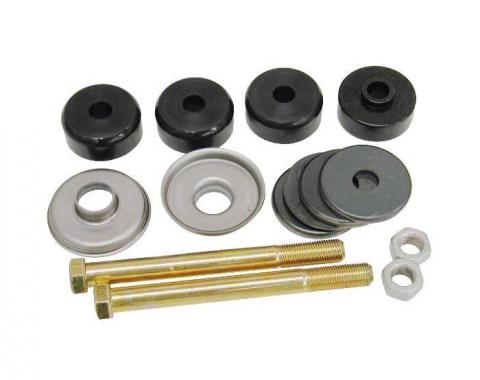 Corvette Rear Leaf Spring Bolt Kit, Stock Length, With Urethane Cushions, 1963-1982