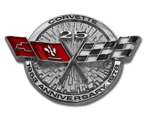 Corvette Front Emblem, Silver Anniversary, 1978