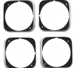 Cutlass/442 Headlight Bezels, Set of 4, 1968