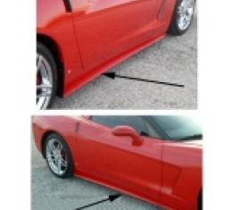Corvette Side Skirts, ZR1 Style, Primer, 2005-2013