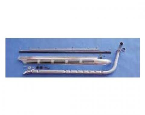 "Corvette Side Exhaust System, Small Block, 2.5"" Aluminized Pipes (Stock GM Sound), 1965-1967"