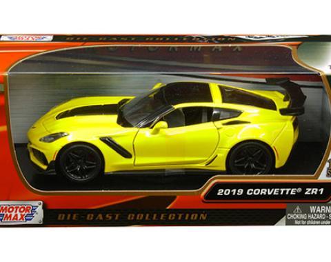 Motormax Timeless Legends 2019 C7 Corvette ZR1 1/24 Diecast | Yellow