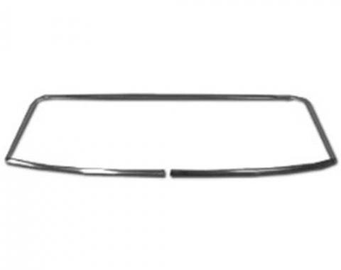 Camaro Rear Window Glass Molding Set, Coupe, 1967-1969