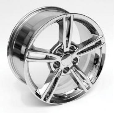 """Corvette Wheels, C6 Z06 Style, """"Y"""" Spoke, Chrome, Reproduction, 1997-2004"""