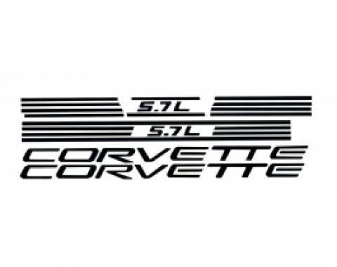 Corvette Fuel Rail Letter Kit, Black 1997-1998
