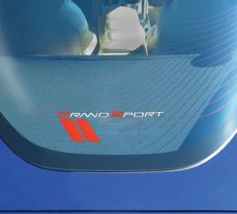 Corvette Rear Cargo Shade, With Embroidered C6 Grand Sport Logo, 2005-2013