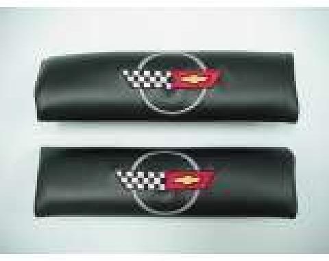 Corvette Shoulder Belt Pads, With C4 Logo