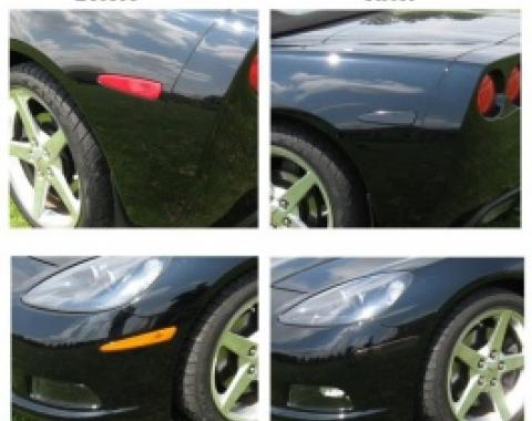 Corvette Black-Out Kit, Side Marker Light, Smoke Black, 2005-2013