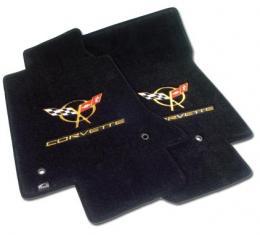 Corvette Mats, Black with Gold C5 Logo & Script, 1997-2004