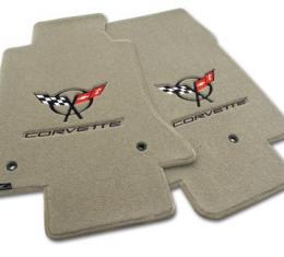 Corvette Mats, Shale with Blk C5 Logo & Script, 2003