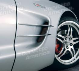 Corvette Fender Side Spear Set, Chrm Billet, 1997-2004