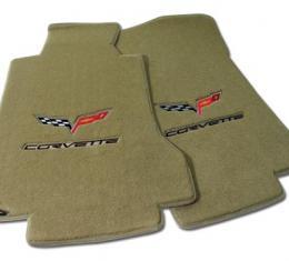Corvette Mats, Cashmere with C6 Logo & Script, 2005-2008