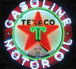 Replacement Neon - Center Star Section, Texaco Gasoline Neon Sign