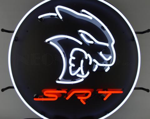 Neonetics Standard Size Neon Signs, Dodge Hellcat Srt Neon Sign
