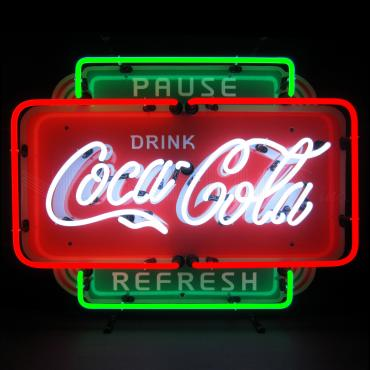 Neonetics Standard Size Neon Signs, Coca-Cola Pause Refresh Neon Sign