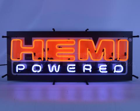 Neonetics Standard Size Neon Signs, Hemi Powered Neon Sign with Backing