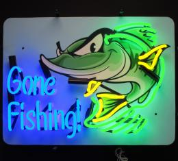 Neonetics Standard Size Neon Signs, Gone Fishing Neon Sign