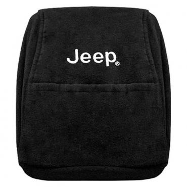 Seat Armour Jeep Wrangler 1997-2000  Only,  Konsole Cover™ with Pocket, Black, KAJWB97-00